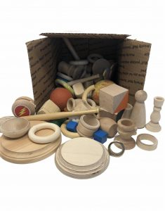 assortment of wooden items